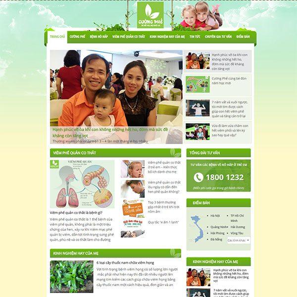 Mẫu Website Tư Vấn Sức Khỏe Online - Cường Phế WBT1143
