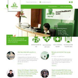 Mẫu Website Tư Vấn Sức Khỏe Online – Help Corp WBT1142