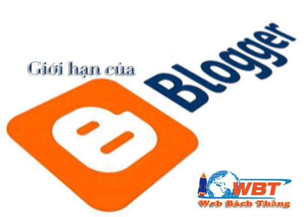 Blogger bị giới hạn gì