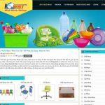 Thiết kế website bán đồ nhựa cao cấp chuyên nghiệp giá tốt