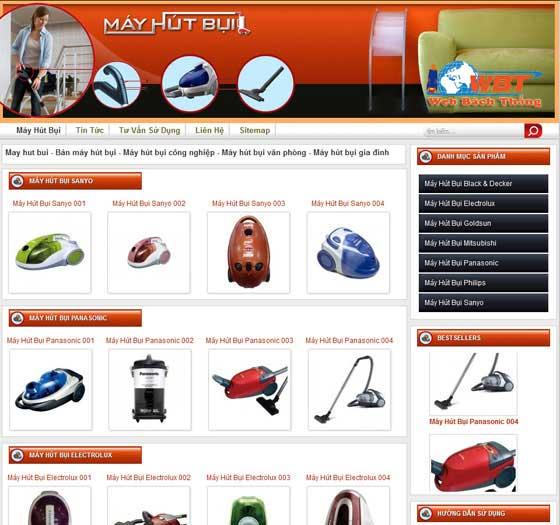 Thiết kế website bán máy hút bụi