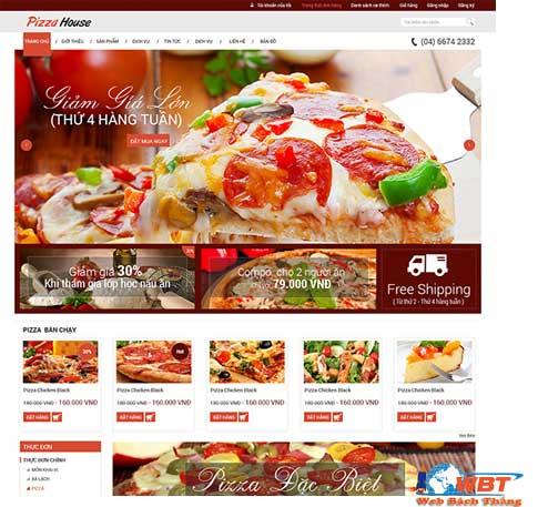 Thiết kế website bán pizza