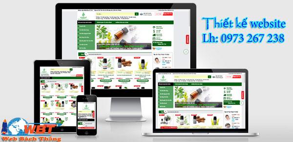 Thiết kế website bán tinh dầu chuyên nghiệp