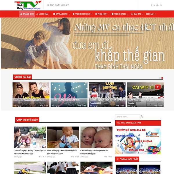 Thiết kế website chia sẻ phim, video miễn phí