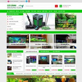 Mẫu Website Bán Cá Cảnh Hoàng Gia WBT1162
