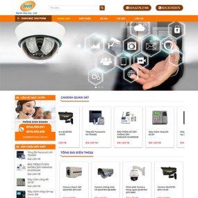 Mẫu Website Bán Camera Thiết Bị Giám Sát Danh Việt WBT1175