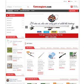 Mẫu Website Bán đồ Câu Chất Lượng Cao WBT1170