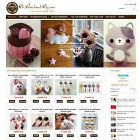 Mẫu Website Bán đồ Handmade đẹp WBT1171