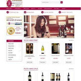 Mẫu Website Bán Rượu TOP Win WBT1164