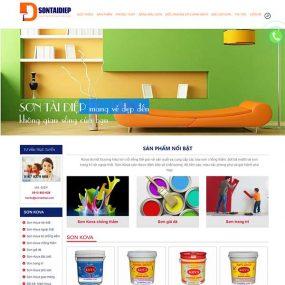 Mẫu Website Công Ty Sơn Alex WBT1166