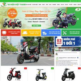 Mẫu Website Bán Xe đạp điện Việt Thanh WBT1168