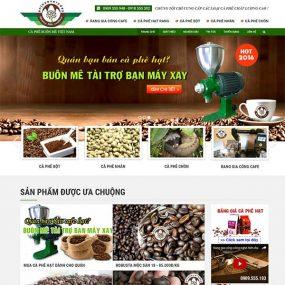 Mẫu Website Cà Phê Buôn Mê Việt Nam WBT1173