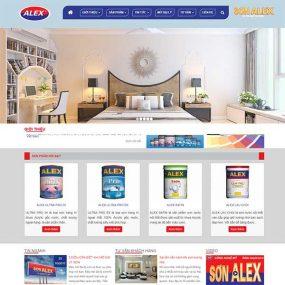 Mẫu Website Công Ty Sơn Alex WBT1165