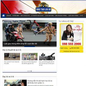 Mẫu Website Dạy Lái Xe, đào Tạo Lái Xe WBT1151