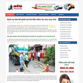 Mẫu Website Dịch Vụ Hút Bể Phốt Việt Tín WBT1176