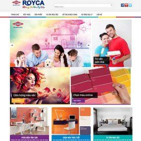 Mẫu Website Giới Thiệu Sản Phẩm Sơn ROYCA WBT1167