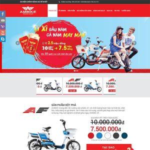 Mẫu Website Giới Thiệu Xe đạp điện Chính Hãng AmBike WBT1169