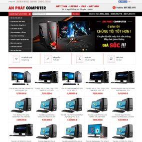 Mẫu Website Mua Bán Máy Tính – Laptop An Phát WBT1163