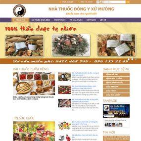 Mẫu Website Nhà Thuốc đông Y Xứ Mường WBT1154