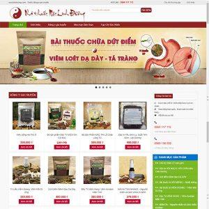 Mẫu Website Nhà Thuốc Mộc Linh Đường  WBT1155