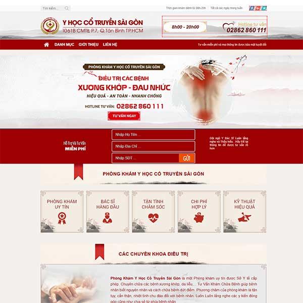 Mẫu website phòng khám đông y Sài Gòn WBT1156
