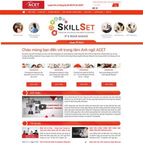Mẫu Website Trung Tâm Anh Ngữ ACET WBT1159