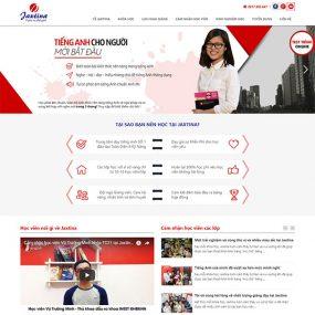 Mẫu Website Trung Tâm Dạy Tiếng Anh Jaxtina WBT1158
