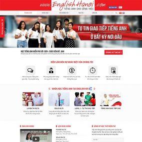 Mẫu Website Trung Tâm Tiếng Anh – Hà Nội WBT1160