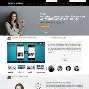 Mẫu Website Trung Tâm Tiếng Anh TOPICA WBT1157