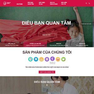 Mẫu Website Dịch Vụ Bảo Hiểm AIA Việt Nam WBT1179