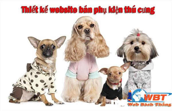 Thiết kế website phụ bán phụ kiện thú nuôi