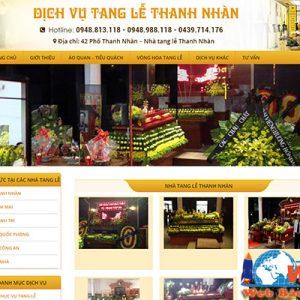 Thiết Kế Website Dịch Vụ Tổ Chức Tang Lễ