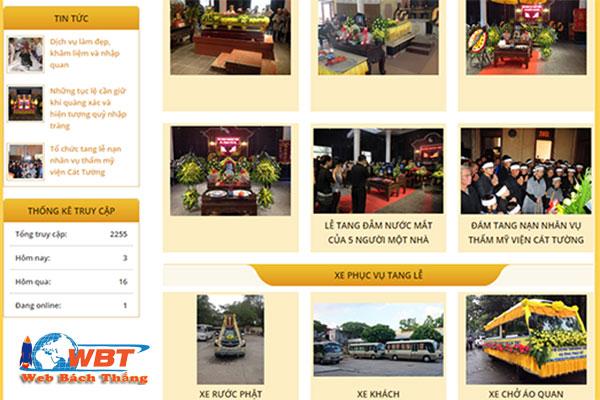 Mẫu Website tang lễ