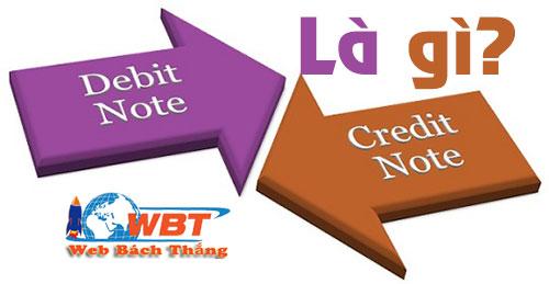 Debit Note Vs Credit Note là gì