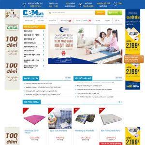 Mẫu Website Chăn Ga Gối đệm đẹp, Chuyên Nghiệp WBT 1217