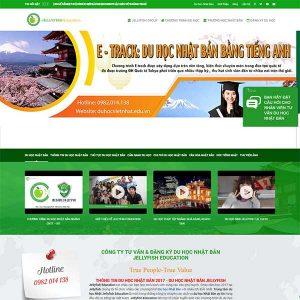 Mẫu Website Du Học Nhật Bản Vừa Học Vừa Làm WBT1201
