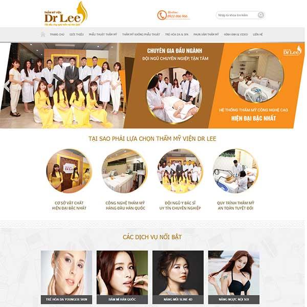 Mẫu website thẩm mỹ Dr Lee WBT1209
