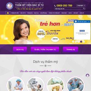 Mẫu Website Thẩm Mỹ Viện Doctor Tú WBT1205