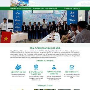 Mẫu Website Xuất Khẩu Lao động Nhật Bản WBT1204
