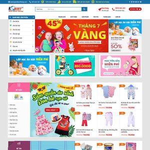 Mẫu Website Thương Mại điện Tử Siêu Thị Mẹ Và Bé WBT190