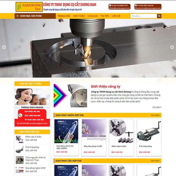 Mẫu website cung cấp phụ kiện cắt và cơ khí WBT1185
