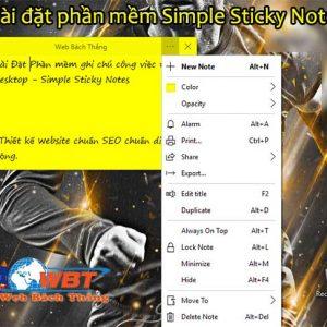 Phần Mềm Ghi Chú Công Việc Trên Desktop - Simple Sticky Notes