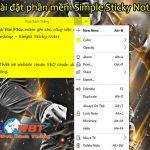 Phần mềm ghi chú công việc trên desktop – Simple Sticky Notes