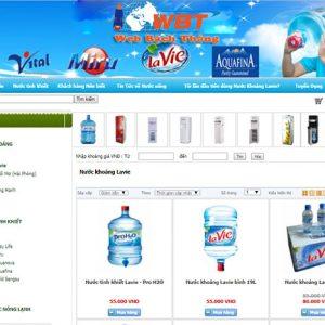 Thiết Kế Website Bán Nước Đóng Bình