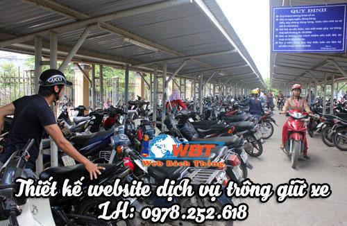 Thiết Kế Website Dịch Vụ Trông Giữ Xe Giá Tốt Bảo Hành Trọn đời.