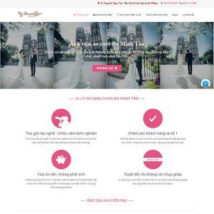 Mẫu Website ảnh Viện áo Cưới WBT1234