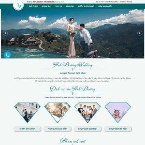 Mẫu Website ảnh Viện áo Cưới WBT1236