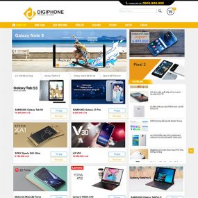 Mẫu Website Bán điện Thoại Laptop Máy Tính Bảng WBT1269