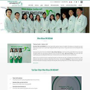 Mẫu Website Nha Khoa Thẩm Mỹ WBT1223