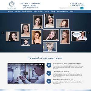 Mẫu Website Nha Khoa Thẩm Mỹ WBT1221